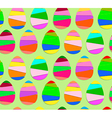 Striped Easter Eggs Seamless Pattern vector image
