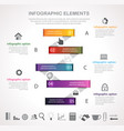 stripes option infographic vector image