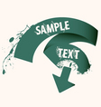 text ribbon frame vector image