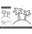tropical island line icon vector image