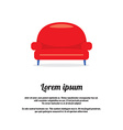 Vintage Red Sofa vector image
