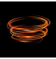 fire light blurry circles at motion swirl trail vector image