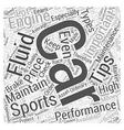 SC sports car engine mainten Word Cloud Concept vector image