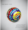 3d model of a sphere vector image vector image