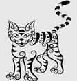 Curl cat vector image vector image