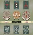 Native Americans thunder bird vector image