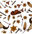 american tribal native symbols vector image