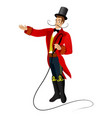 animated character circus trener vector image