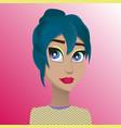 beautiful girl with big eyes vector image