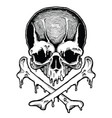 cartoon decorative human skull vector image