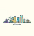 flat line orlando banner vector image