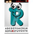 funny letter r cartoon vector image