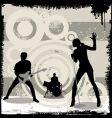 Grunge concert vector image