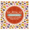 Merry Christmas decorating design vector image