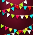 Party Background with Colorful Bunting Flags for vector image