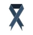 ribbon banner commemorates gray design icon vector image