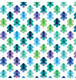 seamless pattern from the stylized Christmas trees vector image