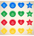 Set of buttons in different colors vector image