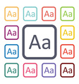 type flat icons set vector image