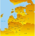 Baltic region countries vector image