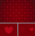 Clean Abstract Poker Background Red Hearts vector image