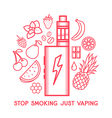Taste of electronic cigarette vector image