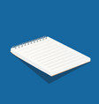 blank white copybook template 3d of vector image