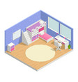 children room isometric composition vector image