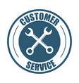 customer service support tools badge vector image