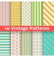 Different vintage stripe seamless patterns tiling vector image