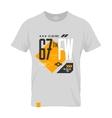 Shabby t-shirt US aircraft emblem vector image
