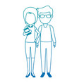 teachers couple avatars characters vector image