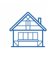 Winter Chalet Thin Line Icon vector image