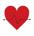 heart cardio healthy lifestyle gym design vector image