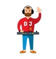 DJ Flat style colorful Cartoon vector image vector image
