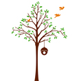 Birds leaving Tree and Cage vector image vector image