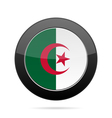 Flag of Algeria Shiny black round button vector image