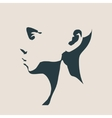 Head silhouette Face profile view vector image