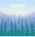 the blue wildforest landscape vector image