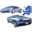 italy police car vector image