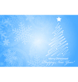 Merry Christmas Happy New Year background with vector image vector image