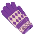 Christmas mitten protection from the cold vector image