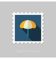 Beach Parasol flat stamp Summer Vacation vector image