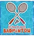 Badminton sketch background vector image