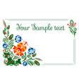 banner with floral ornament vector image