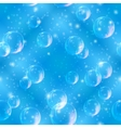 Bubbles seamless on blue vector image