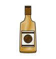 champagne bottle isolated vector image
