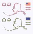 Colors of Alaska USA vector image