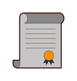 diploma graduation isolated icon vector image