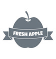 fresh apple logo vintage style vector image